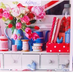 Pink red and blue...