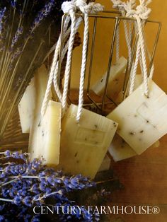 Sweet Almond & Lavender Flowers Soaps-on-Ropes from Century Farmhouse
