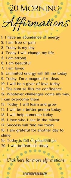 I've started morning affirmations. Loving myself is new