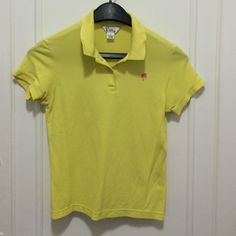Lilly Pulitzer Golf polo Lemon/lime colored good, used condition Lily Pulitzer polo. Sz S. Loved this polo but is now too big... Lilly Pulitzer Tops Tees - Short Sleeve
