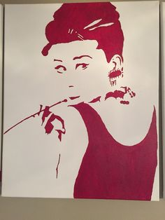 FOR SALE! Audrey Hepburn silhouette 16x24 $55 if interested email me at madison.bradley98@gmail.com