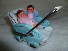 alter Puppenwagen Sportkarre Fiedler & Podey + 2 unbespielte alte Babypüppchen