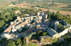 La Couvertoirade, France --  The castle of La Couvertoirade was built by the Knights Templar in the twelfth century, but the ramparts are the work of the Knights Hospitallers in the fifteenth century / French Tourist Office © E. Teissedre