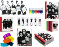 NEED these One Direction school supplies.
