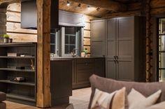 OPPLEV NYE RØROSHYTTA VISNINGSHYTTE!   FINN.no Swiss Cottage, Timber Cabin, Swedish House, Cabin Interiors, Wooden House, Winter House, Modern Rustic, Tall Cabinet Storage, Furniture