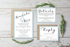 Classic Wedding Invitation Set // Wedding Invitation Set //