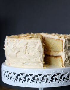 This Yellow Cake with Caramel Buttercream recipe makes a moist, tender cake that is filled and frosted with a luscious caramel buttercream!