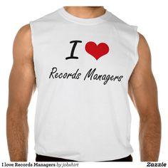 I love Records Managers Sleeveless Tees Tank Tops
