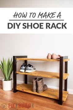 Wood projects DIY Shoe Rack with a Shou Shugi Ban Finish Wood Shoe Rack, Diy Shoe Rack, Diy Rack, Shoe Racks, Diy Shoe Shelf, Homemade Shoe Rack, Best Shoe Rack, Rack Design, Diy Holz