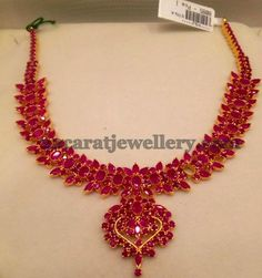 Attractive Ruby Set 35gms - Jewellery Designs