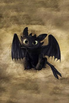 Toothless - how to train your dragon - iPhone wallpaper