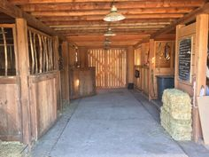 """""""Sometimes it's hard to remember that this is what is underneath Amy & Ty's loft home. In a way it's most appropriate, though, no? Horse Stables, Horse Farms, Barn Loft Apartment, Barn Layout, Horse Barn Designs, Backyard Barn, Heartland Ranch, Horse Barn Plans, Dream Barn"""