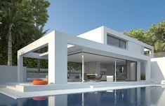 House 4 - Seasites U Shaped House Plans, U Shaped Houses, Home Building Design, Building A House, Style At Home, House Rooms, House 2, Morden House, House Plans South Africa