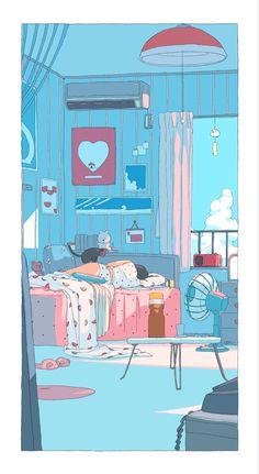 Aesthetic Drawing, Aesthetic Art, Aesthetic Anime, Arte Do Kawaii, Kawaii Art, Walpapers Cute, Cute Art, Anime Scenery Wallpaper, Aesthetic Pastel Wallpaper