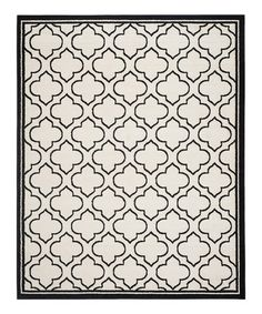 This Coal & Ivory Aisley Power Loomed Indoor/Outdoor Rug is perfect! #zulilyfinds