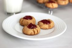 Grain-Free Peanut Butter & Jelly Cookies – Gluten-free + Vegan
