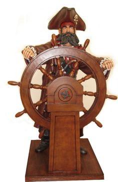 Pirate Statue, Pirate Life Size, pirate Whee
