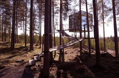 Located in Harads, Sweden, Treehotel is a combination of a standard hotel with five uniquely designed guesthouses and a sauna space propped up against a classic Scandinavian atmosphere. Each designed and decorated in a specific theme from MirrorCube to The Bird's Nest.