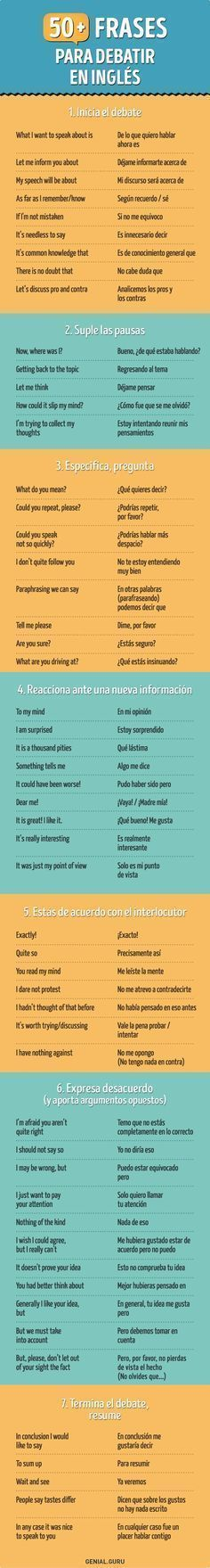 50+ Frases en inglés para que te luzcas en cualquier conversación #elearning