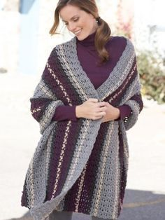 Simply Soft Afternoon Wrap- FREE CROCHET pattern - longer than most wraps - will keep you warmer - easy pattern.