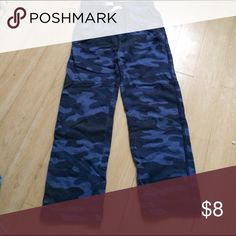 Carters camo Pjs bottoms Camo print PJ bottoms did not come with a top.  Smoke & pet free home! Carter's Bottoms Casual