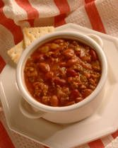 Crockpot Chili-- tried this one, really thick and not very soupy. added jalepenos and was a little spicy, good with cheese on top!