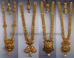 Jewellery Designs: Gold Antique Long Chains