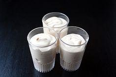 WHITE CHOCOLATE MACADAMIA NUT PUDDING SHOTS1 small box white chocolate instant pudding3/4 c milk3/4 c Trader Vic's Macadamia Nut Liqueur8 ounce tub cool whip