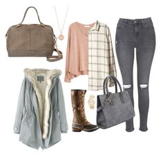 """""""traveling"""" by kinley-breaux on Polyvore featuring MANGO, Topshop, H&M, SOREL, Wrap, Deux Lux, Astley Clarke and Michael Kors"""