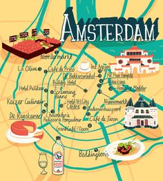 Maps of Amsterdam - Patrick O'Leary Illustration