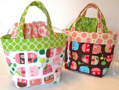 "I'm going to make these for the boys for the fall and the start of the new school year. Just need some ""boy"" fabric to do it! Ayumi's lunch bag pattern by Happy Zombie, via Flickr"