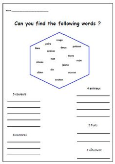Classroom words are a great place to start building French ...