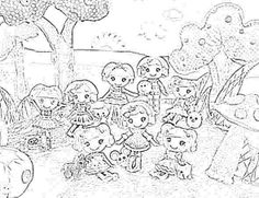Lalaloopsy Doll Coloring Pages Cartoon Pictures
