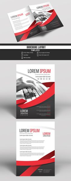 Brochure Cover Layout with Gray and Red Accents 4. Buy this stock template and explore similar templates at Adobe Stock | Adobe Stock. #Brochure #Business #Proposal #Booklet #Flyer #Template #Design #Layout #Cover #Book #Booklet #A4 #Annual #Report| Brochure template | Brochure design template | Flyers | Template | Brochures | Flyer Background | Background design | Business Proposal | Proposal Design | Booklet | Professional | Professional - Proposal - Brochure - Template