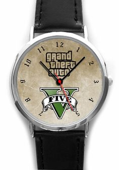 Grand Theft Auto Wristwatch GTA 5 Video Game by YourWatchDesign, - Gamer House Ideas 2019 - 2020 Grand Theft Auto Games, Grand Theft Auto Series, Gta V 5, Gta Cars, Rockstar Games, San Andreas, Ps4, Playstation, Video Games
