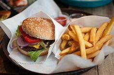 Veggie burger and fries yuuummm
