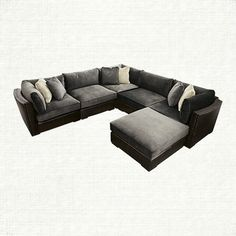 View the Truffle 6 Piece Sectional from Arhaus. Pairing the rugged richness of genuine Italian leather with the quiet elegance of crushed velvet, th