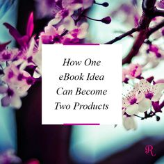 How one eBook idea can become two products - Raspberry Stripes