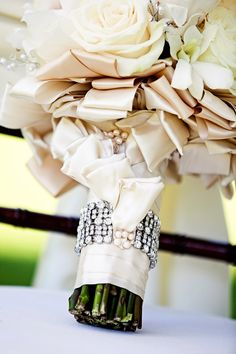 Wedding Bouquet Wraps, Handles and Holders Inspiration - Belle the Magazine . The Wedding Blog For The Sophisticated Bride