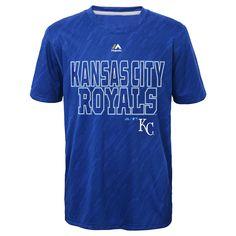 Kansas City Royals Boys Geo Fuse Sublimated CoolBase T-Shirt