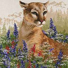 Cougar Cross Stitch Kit By Riolis