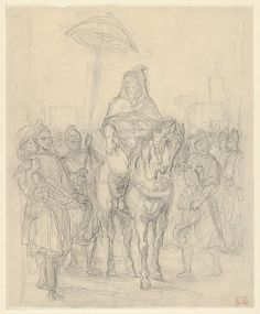 """Eugène Delacroix (French, 1798–1863). Study for """"The Sultan of Morocco and His Entourage,"""" ca. 1855-56. The Metropolitan Museum of Art, New York. Gift from the Karen B. Cohen Collection of Eugène Delacroix, in honor of Henri Loyrette, 2013 (2013.1135.21) 