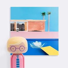 David Hockney Kokeshi Doll - Sketchinc