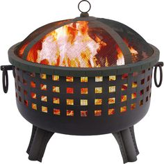 Gather around this metal firepit to roast s'mores and tell ghost stories, or cozy up beside it for a romantic night under the stars.P...