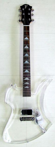 Fernandes mockingbird transparent crystal electric guitar with led