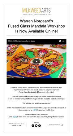 Warren Norgaard's Fused Glass Mandala WorkshopIs Now Available Online! Tibetan Mandala, Fused Glass, Workshop, Education, Learning, Mandalas, Atelier, Studying, Teaching