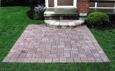 Patio On A Small Budget | ... walls walks and patios gt small brick paver patio with step wallpaper