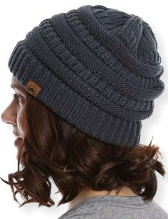 82f303ef64a Details about Tough Headwear Cable Knit Beanie - Thick