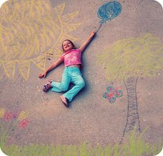 Creative Sidewalk Chalk Photo