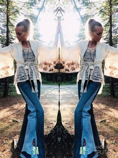 Upcycled Flare jeans, wide leg handmade 90s skater inspired jeans with bell bottoms
